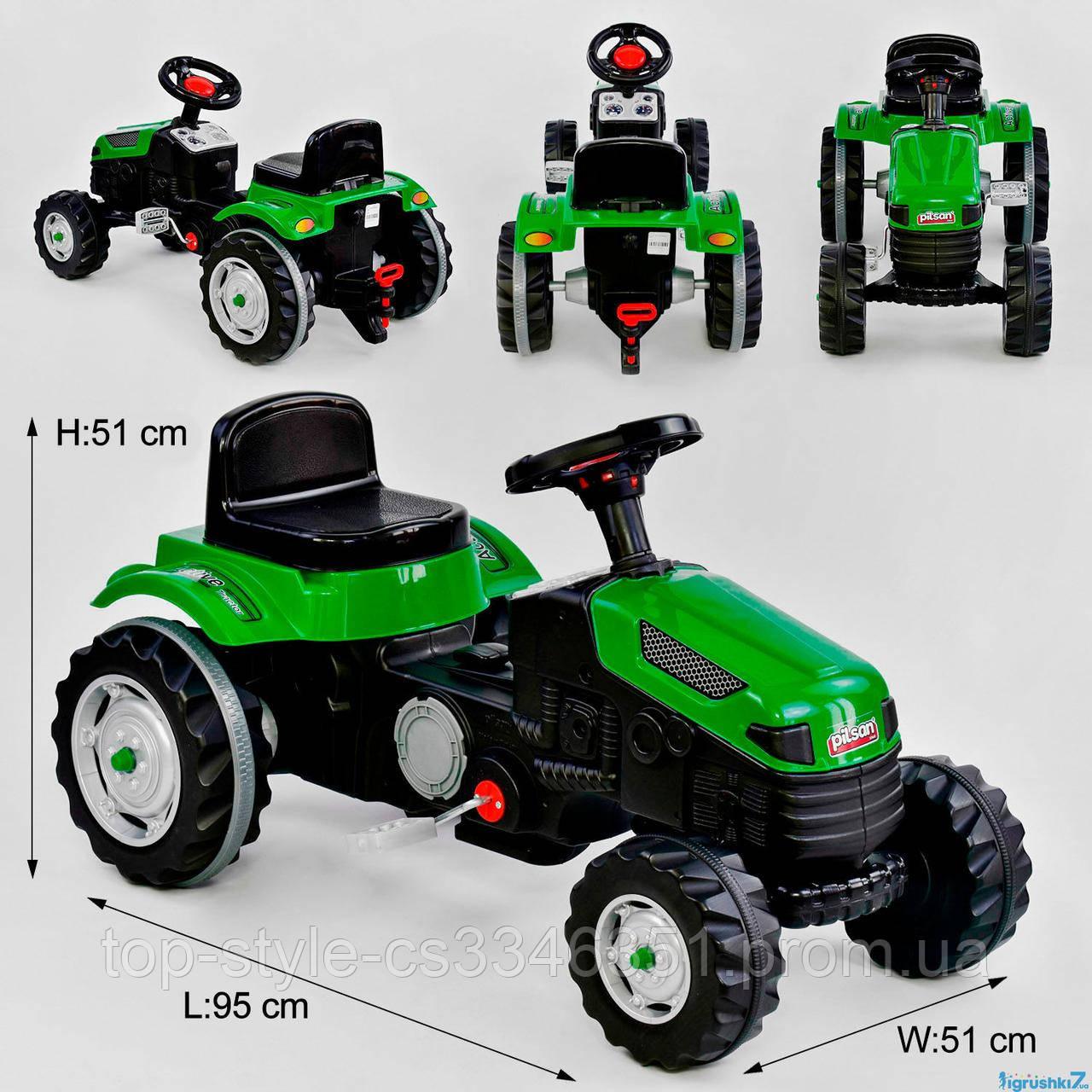 Трактор веломобиль педальный 07-314 зеленый