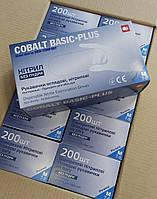 Перчатки нитриловые Ampri COBALT BASIC-PLUS, синие , 200 шт /уп. ( размеры М, L )
