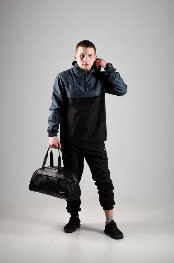 Анорак Nike President Мужской серый Черный найк ветровка осенняя весенняя, фото 2