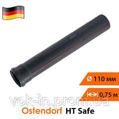 Труба для внутренней канализации 110 мм (0,75 м) Ostendorf HT Safe