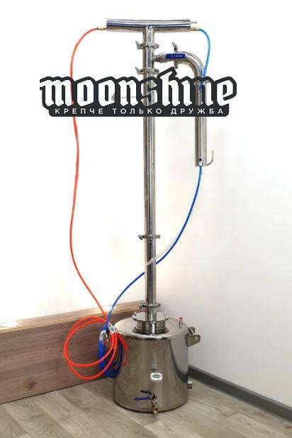 Ректификационная колонна Moonshine Прима Тора  кламп 2 с баком 14 литров
