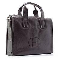 Мужская кожаная сумка портфель 2804 черная для документов бумаг ноутбука, фото 1