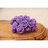 Розы 2,0 см ,фиолетовые         144 шт