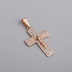 Золотий хрестик з фіанітами. П03086