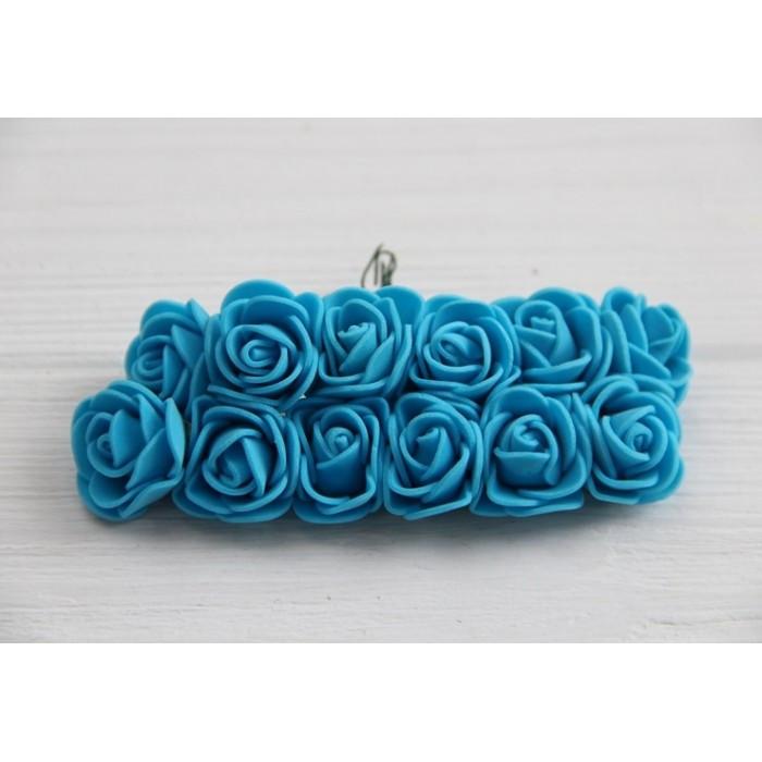 Розы 2,0 см , темно - голубые            144 шт
