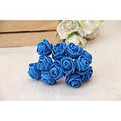 Розы 2,0 см , синие          144 шт