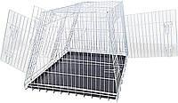 Клетка для собак в авто Croci 93*79*68 см. Металлическая (оцинковка) 2 двери