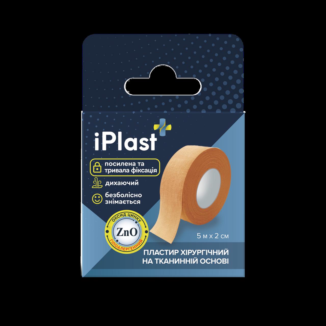 Хірургічний пластир на тканій основі, в котушці IPlast (Dr.Frei) (5м х 2см)