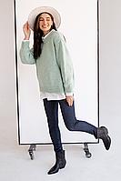 Теплые на меху брюки легинсы для беременных 1082052-3, синие, фото 1