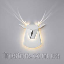Настінний світильник Олень білий - світлодіодний,  сталь