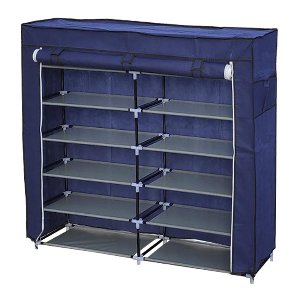 Тканинний шафа органайзер полиця для взуття обувница для зберігання одягу стелаж стійка HCX 118х30х120 см