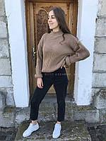 Женский темно-бежевый свитер