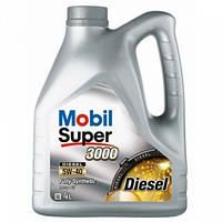 Моторное синтетическое масло Mobil Super 3000 5W-40 4L ACEA A3/B3 A3/B4, BMW LL-01, Opel GM-LL-B-025, MB 229.3