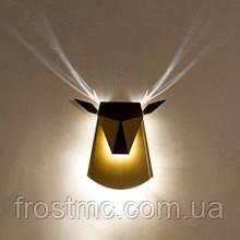Настінний світильник Олень чорний - світлодіодний,  сталь