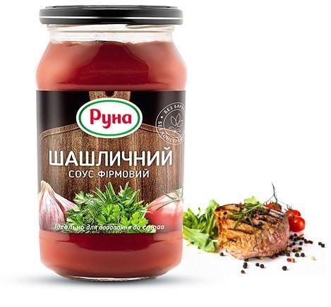 Соус томатный Шашлычный ТМ Руна 485 грамм