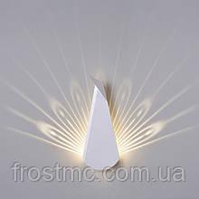 Настінний світильник Павич білий - світлодіодний,  сталь