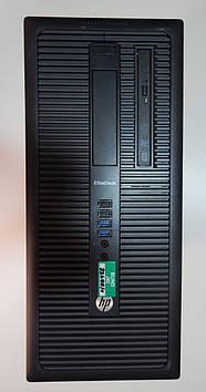 Системный блок-компьютер б у игровой HP EliteDesk 800 G1 TWRI5-4570/ 8Гб ОЗУ/RX 560 4Gb/ DVD-RW