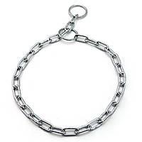 Ошейник цепь ринговка для собак металлический РУП 3,0 мм 55 см, фото 1