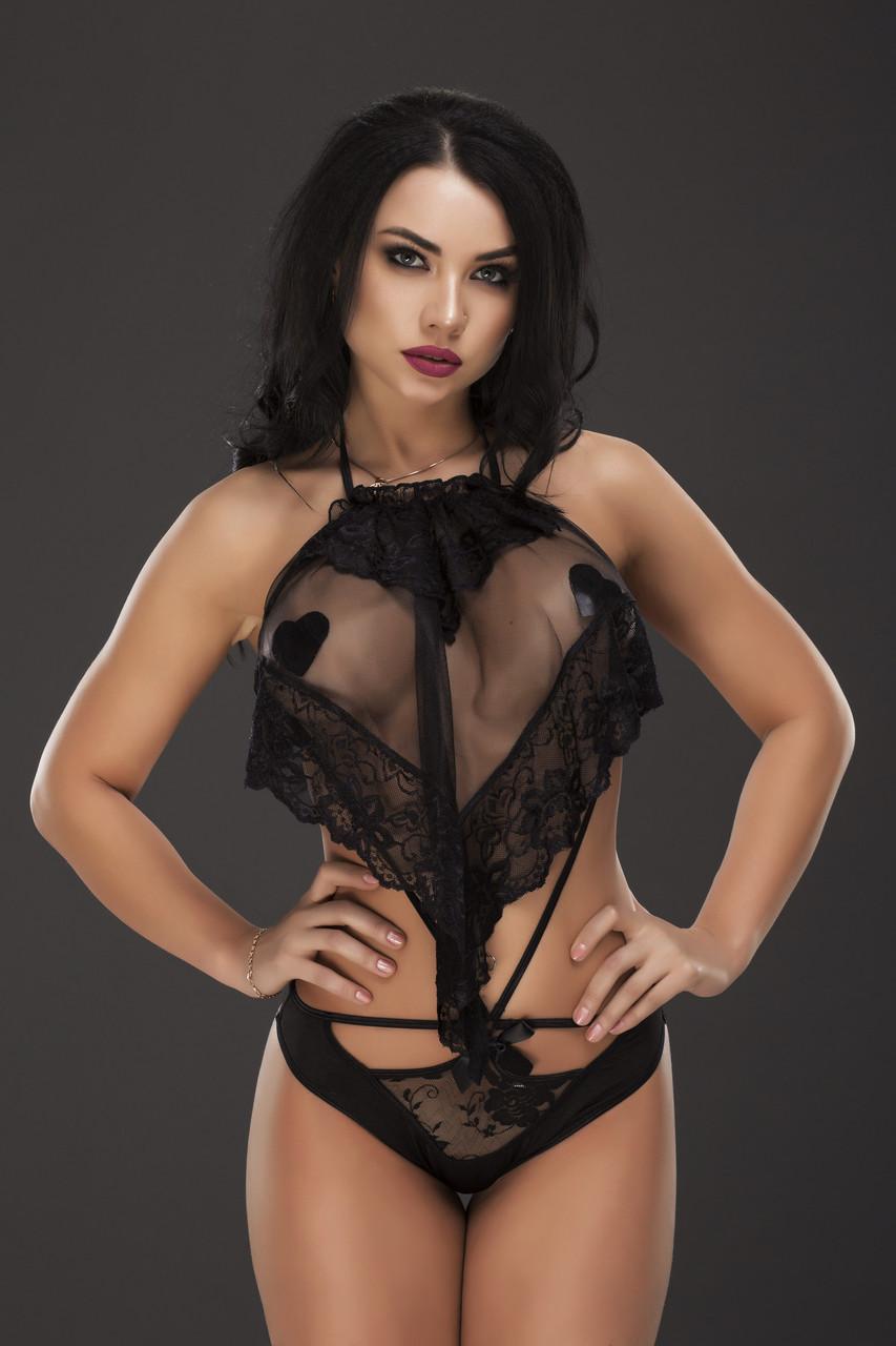 Сексуальное боди с наклейками для груди
