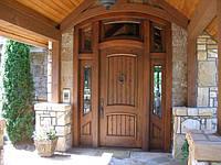 Двери входные деревянные с утеплением