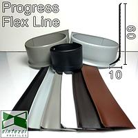 Гибкий плинтус для пола Flex Skirting, 60x10mm. Progress Profiles, Италия.