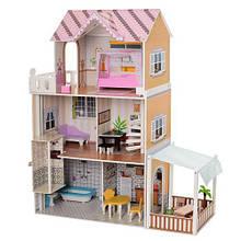 Домик для кукол 2150 деревянный игрушечный с мебелью
