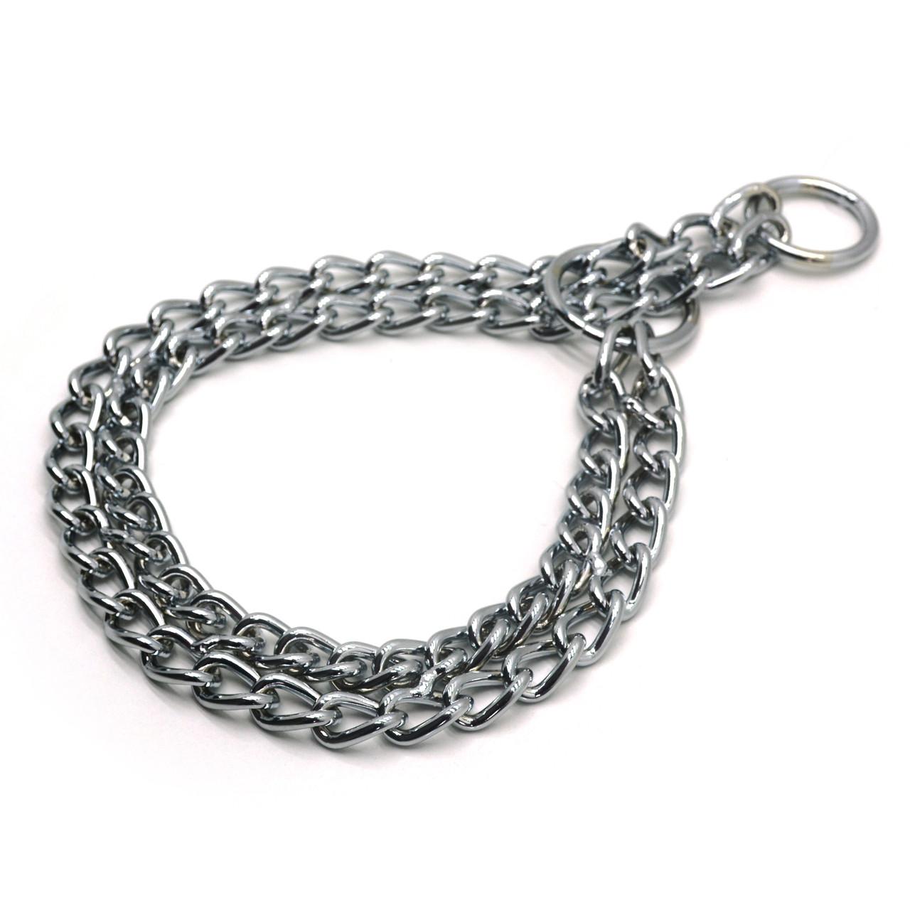 Ошейник цепочка ринговка для собак металлический РУ2 4,0 мм 60 см
