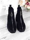 Женские зимние ботинки с молнией впереди, фото 3