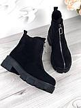 Женские зимние ботинки с молнией впереди, фото 2
