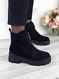 Женские зимние ботинки с молнией впереди, фото 4