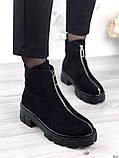 Женские зимние ботинки с молнией впереди, фото 5