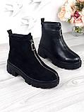 Женские зимние ботинки с молнией впереди, фото 9