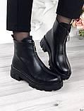 Женские зимние ботинки с молнией впереди, фото 8