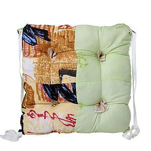 Подушка на стул 40х40х6 см с завязками Классическая Homefort