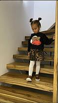 Нарядный костюм на девочку кофта + юбка  3-7 лет леопардовый  Duck, фото 3