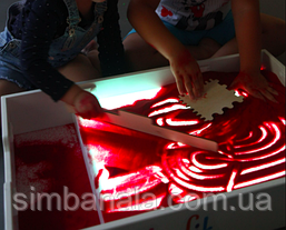 Світловий планшет для малювання піском Noofik(з кишенею)