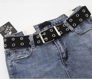 Ремень с дырками люверсами женский модный эко кожа ширина 4 см Р-30, фото 2