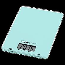 Электронные кухонные весы Clatronic KW 3626,  функция тарирования, ЖК-дисплей, до 5 кг, мята