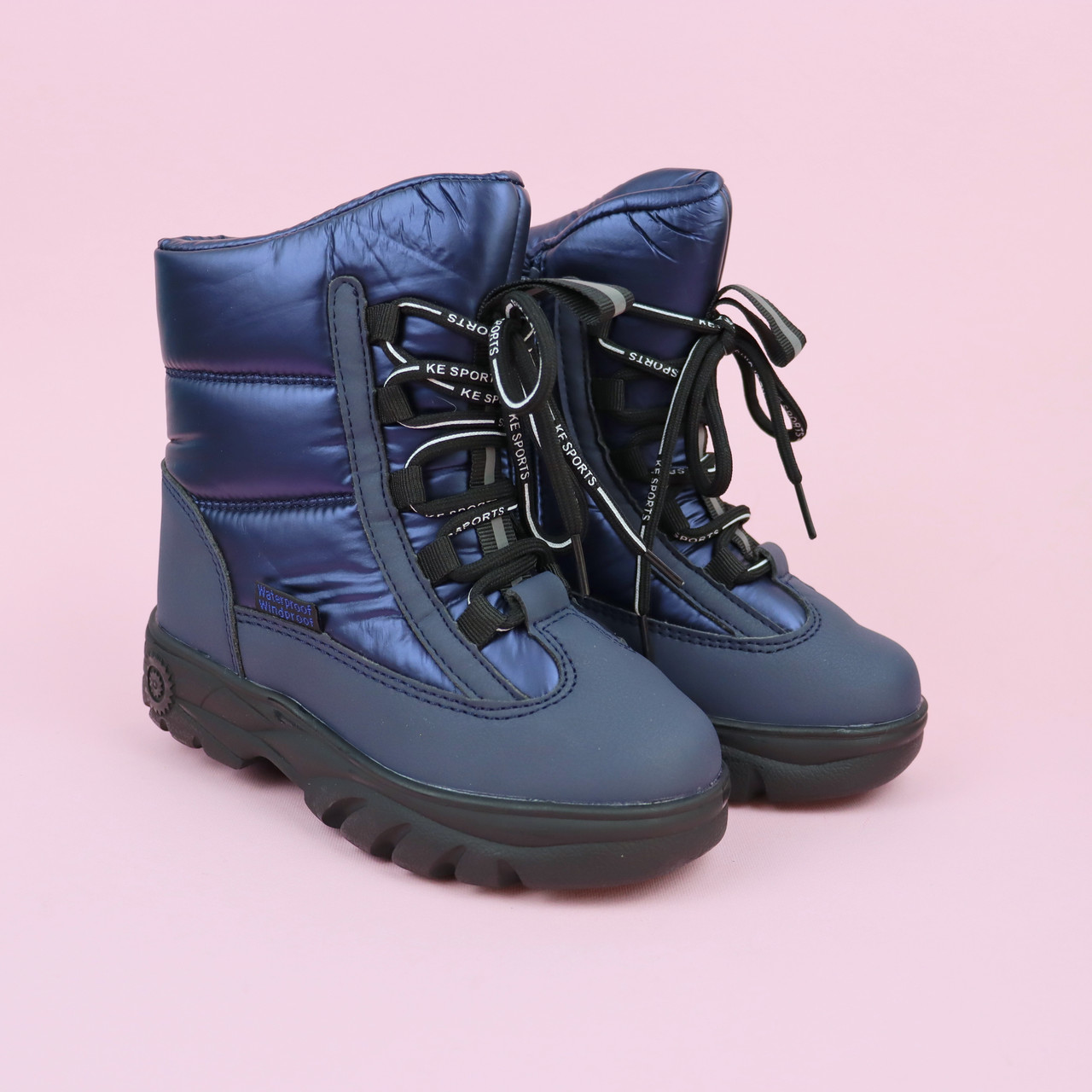 Зимові термо чобітки на дівчинку Сині тм Тому.м розмір 27,28,29,30