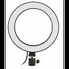 Кільцева LED лампа 20 см селфи кільце для блогера ЗІ ШТАТИВОМ, фото 2