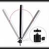 Кільцева LED лампа 20 см селфи кільце для блогера ЗІ ШТАТИВОМ, фото 4
