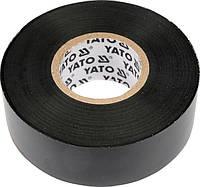 Изолента YT-8152 (12мм, 10м) ПВХ, Чёрная