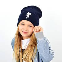 "Шапка ""Домик"" Billie Eilish (вышивка) Синий, фото 1"
