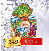 Коробка новогодняя для конфет и подарков на 500 г