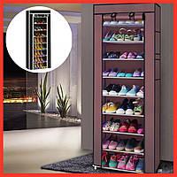 Тканевый шкаф для хранения обуви Полка обувная стеллаж стойка подставка с накидкой Обувница Shoe Cabinet