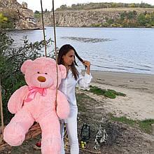 Плюшевый  мягкий мишка 130 см розовый