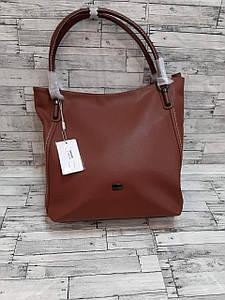 Женская вместительная сумка с двумя ручками из экокожи 30*33 см