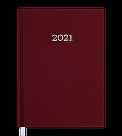 Щоденник датов. 2021 MONOCHROME, A5, бордовий, фото 1