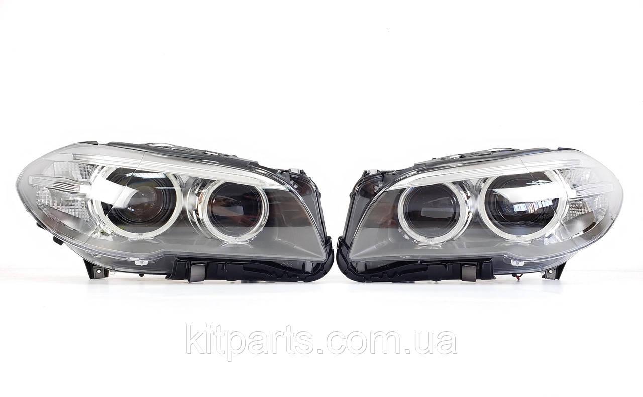 Передние фары адаптивные фонари оптика BMW 5 Series F10 2014-2017 рестайлинг