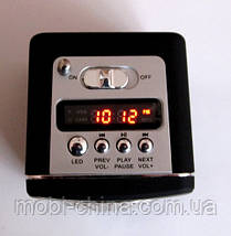 Портативная колонка-радио WS-909RL MP3/SD/USB/AUX/FM/LED фонарь, black, фото 3